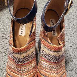 Steve Madden High Heel Wedge Sandals